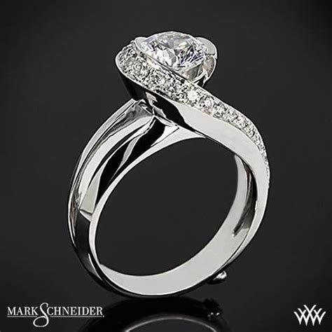 14k white gold mark schneider vision diamond engagement