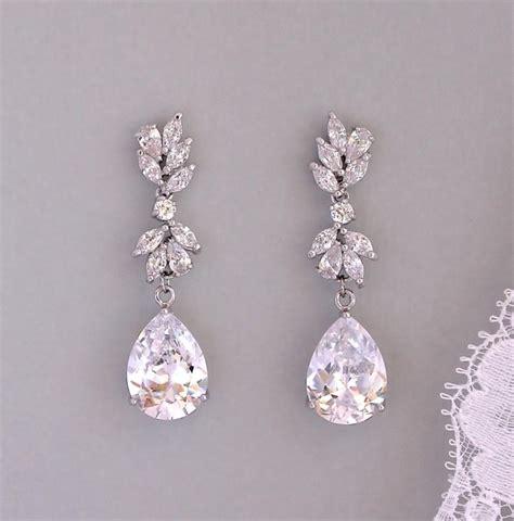 Teardrop Chandelier Bridal Earrings Bridal Earrings Drop Earrings Chandelier Bridal Earrings Bridal