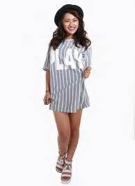 Play Tunic Grey snip it black slit ripped knee by remedy boutique ustrendy