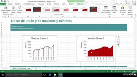 tutorial excel graficos 2007 l 237 neas de uni 243 n y de m 225 ximos y m 237 nimos en gr 225 ficos de excel