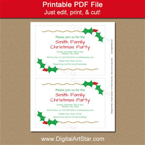 per invite template digital printable decor