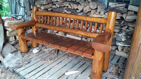 red cedar log bench pinteres red cedar log bench custom log bench s pinterest red cedar bench and logs