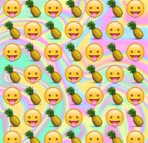 emoji pineapple wallpaper ананасик хорошее настроения we heart it background