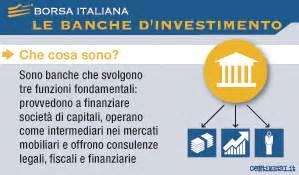 banche d investimento italiane banche d investimento borsa italiana