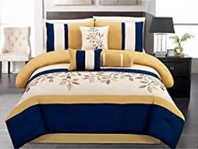 7 pieces luxury navy blue yellow white