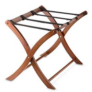 Luggage Racks For Bedrooms solid wood luggage rack in walnut www bedbathandbeyond com