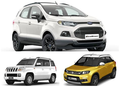 Maruti Suzuki Specification Maruti Suzuki Vitara Brezza Vs Mahindra Tuv 300 Vs Ford