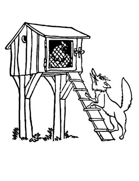 coloring page chicken coop chicken coop coloring pages