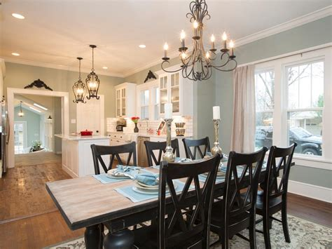 Kitchen And Dining Room Lighting Ideas A 1937 Craftsman Home Gets A Makeover Fixer Style Hgtv S Fixer With Chip And