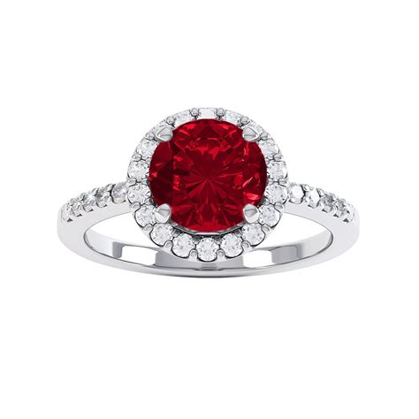 Ruby 16 1ct eternity 1ct ruby and white sapphire halo 18ct gold
