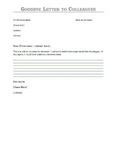 Goodbye letter to colleagues template sample letters letter