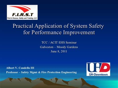 practical application of system safety for performance