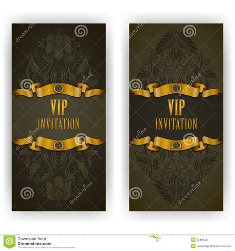 Elegant Template For Vip Luxury Invitation Stock Image Image 33486337 Vip Birthday Invitations Templates Free