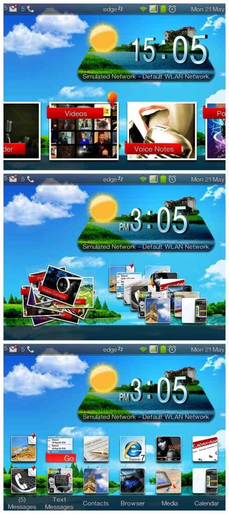 blackberry os 6 themes the real 3d themes for blackberry os 6 7 free all themes