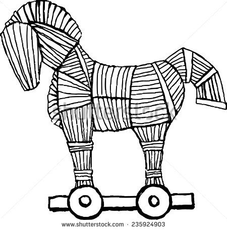 coloring pages of trojan horse ancient clipart trojan war pencil and in color ancient