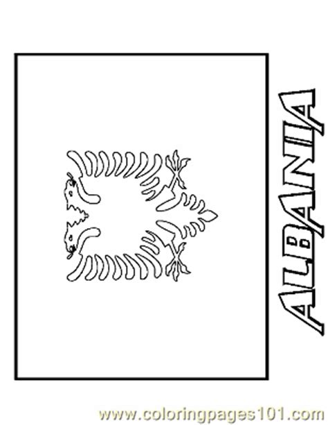 albania coloring page  flags coloring pages