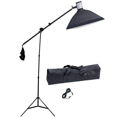 Stand Softbox studio flash light 120 w s with softbox 20 quot x 28 quot boom