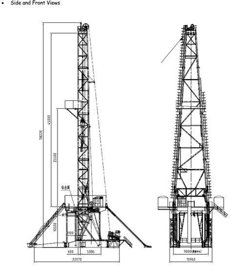 2000hp zj70db ac vfd electric modular drilling rig botta