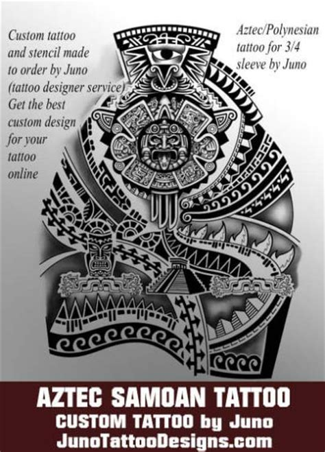 aztec tribal band tattoo designs aztec tattoos templates calendar get yours
