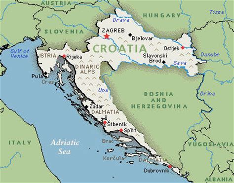 physical map of croatia maps of croatia political physical and road maps maps of