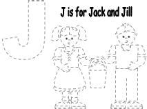 preschool coloring pages jack and jill fun learning printables for kids