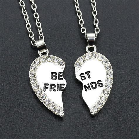 Best Metal For Jewelry Gold by 2pcs Set Best Friend Silver Gold Pendants