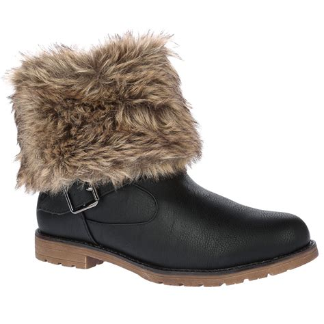 boots with the fur for d9z womens fur collar warm winter flat pull on