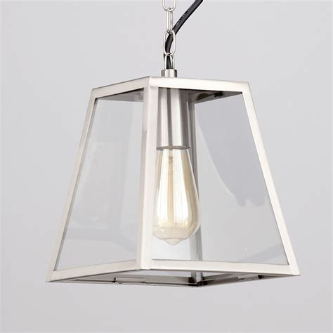 stainless steel kitchen pendant light rockford outdoor 1 light tapered square hanging lantern
