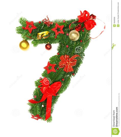 christmas alphabet number 7 stock photo image 16640068