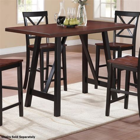 coaster 104501 black wood dining table a sofa