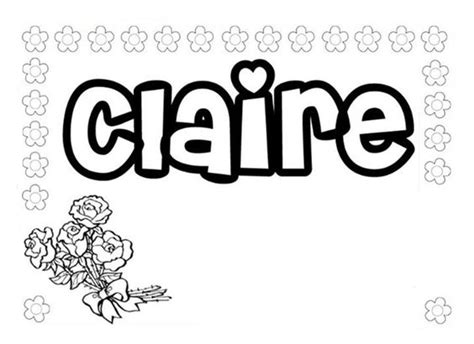 coloring pages of the name claire name coloring pages claire coloringstar