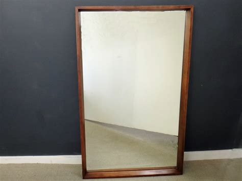mid century mirror large mid century wood mirror retrocraft design