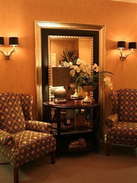 Rectangle long mirror, decorating large wall niches ideas