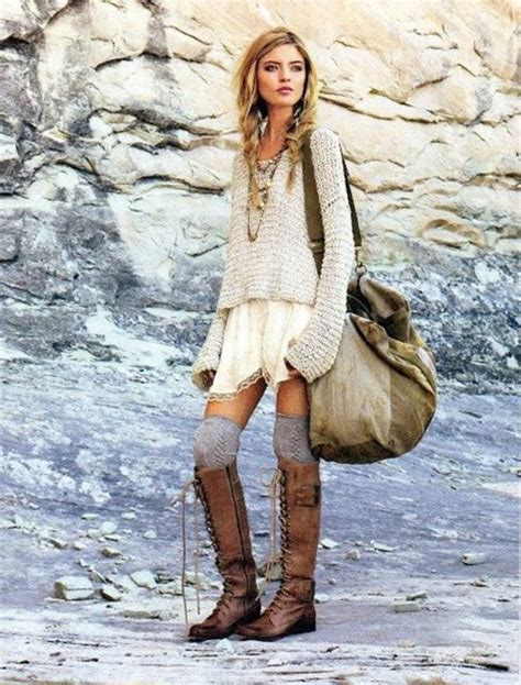 boho cardigan booties style fall winter shoes leather boots boots boho boho chic knee high
