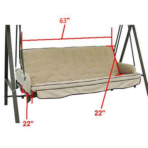 garden treasures swing replacement canopy lowes garden treasures 3 person cushion traditional swing