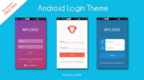 xml templates for android android login ui xml
