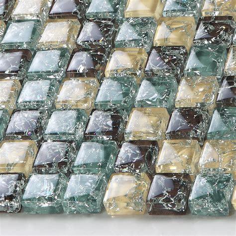 crackle glass tile backsplash ideas bathroom and kitchen