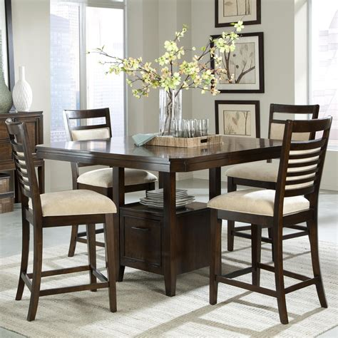 counter height table with upholstered chairs standard furniture avion 5 counter height table set