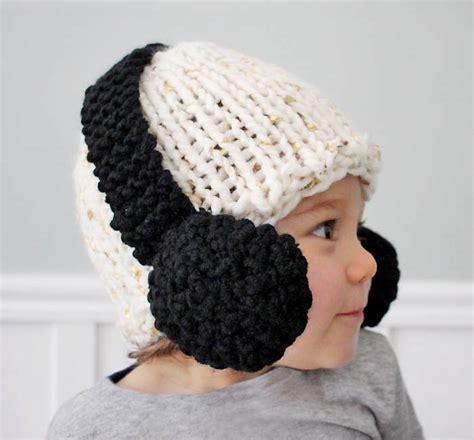 knitting pattern youth hat kids headphone hat free knitting pattern
