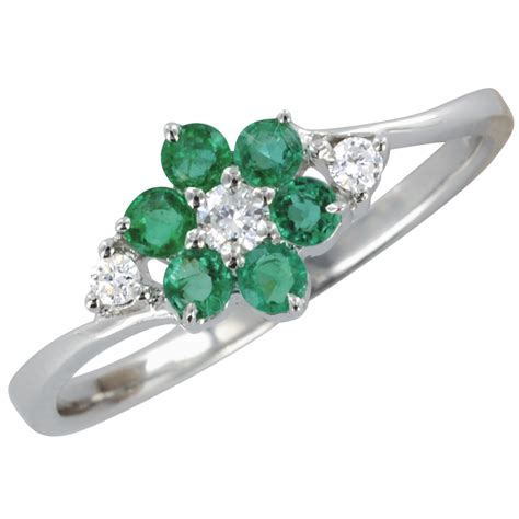 emerald flower duet ring from shipton and co uk