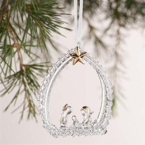 spun glass ornaments spun glass nativity ornaments 2 pack world market