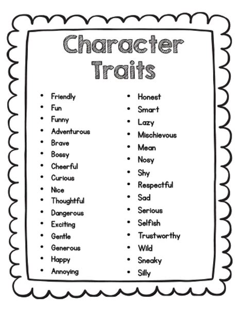 best 25 teaching character traits ideas on what are
