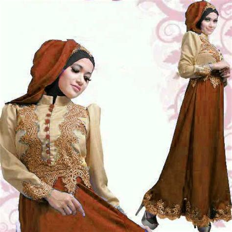 Gamis Satin 17 best images about kebaya and batik on gold lace satin and indonesia