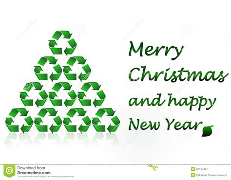 ecological christmas merry ecology concept stock illustration image 28197967