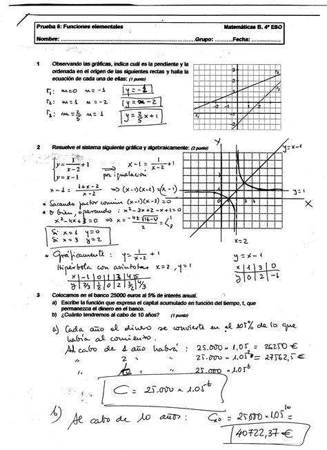 Matemáticas de 4º de ESO (opción B) · Artículo · IES