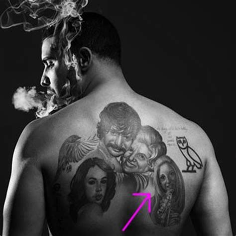 mystery woman in drake s giant family portrait tattoo is