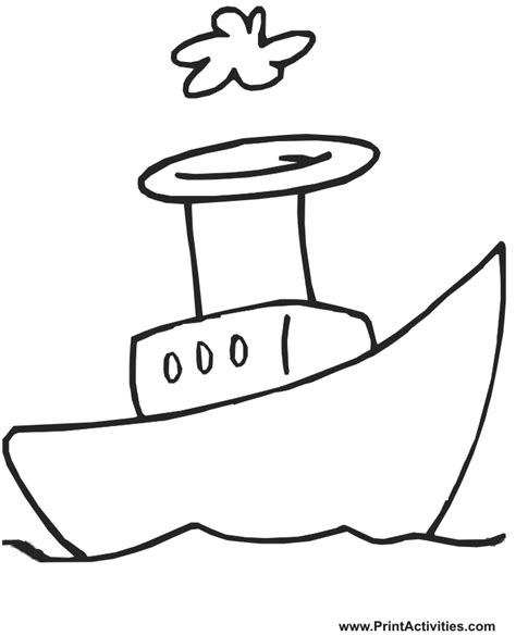 steamboat cartoon boat coloring page very cartoonish steamboat