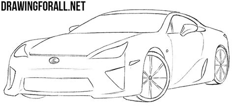 lexus lfa drawing how to draw a lexus lfa drawingforall