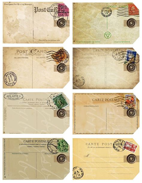 post card label templates best 25 vintage tags ideas on tag tags
