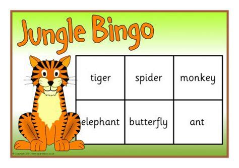 printable jungle animal bingo jungle animals bingo sb4512 sparklebox